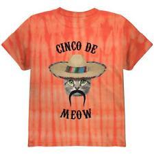 Funny Cat Cinco de Mayo Meow Youth T Shirt