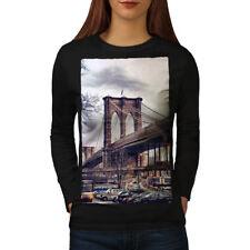 Brooklyn Bridge USA Women Long Sleeve T-shirt NEW | Wellcoda