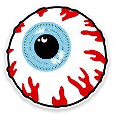 2 x 10cm Cartoon Autocollant Vinyle yeux globe oculaire stickers zombie Skate bombe portable. # 9568
