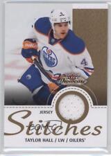 2013-14 Fleer Showcase Stitches #S-TH Taylor Hall Edmonton Oilers Hockey Card