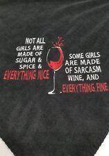 Wine glass drinks girls night  Personalized birthday Fleece Blanket Throw Gift