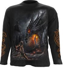 Espiral directo Dragon Slayer Manga Larga t-shirt/biker/tattoo / skull/wild/tribal