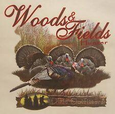 DIXIE OUTFITTERS TURKEY HUNTER  WOODS & FIELDS HOODED SWEATSHIRT #6838 HOODIE