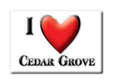 SOUVENIR USA - INDIANA FRIDGE MAGNET I LOVE CEDAR GROVE (FRANKLIN COUNTY)