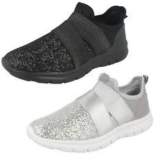 MUJER AIR TECH Rafferty Zapatos Gris Plata Negro Brillante Sin Cordones