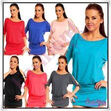 Sexy Women's Batwing Tunic Ladies Mini Dress Plus Size 8,10,12,14,16,18 UK