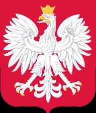 "Auto Aufkleber Wappen Polen ""Polska"" Poland Vinyl Sticker konturgeschnitten"