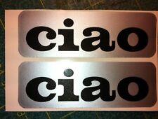Adesivo Piaggio CIAO nero sfondo argento -  adesivi/adhesives/stickers