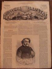 L'UNIVERS ILLUSTRE 1866 N 576 PORTRAIT DE LEON GOZLAN