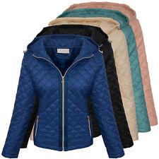 Designer damen steppjacke übergangsjacke gesteppt damenjacke mit kapuze D-383