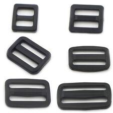 """3/8"""" 5/8"""" 3/4"""" 1"""" Plastic Triglides Slides 4 Buckle Leather strap Belt Webbing"""
