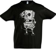 Sponge Rob Kids Boys T-Shirt Fun Halloween The Zombie Bob Walking Brains Dead