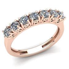 2ctw Round Brilliant Cut Diamond Ladies Basket 7Stone Wedding Band 10K Gold