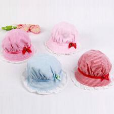 Outdoor Flower Stripe Visor Girl Sun Cap Bonnet Beanie Cotton Baby Bucket Hats