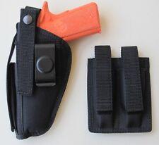 "Gun Holster Hip Belt & Magazine Pouch Combo for COLT 45 1911 5"""