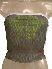 Top fascia donna Virgin Ware Tg. L Verde Traforato Sexy Original New