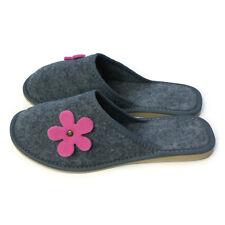 Femmes femmes filles gris mule home bed guest voyage pantoufles taille 3 4 5 6 7 8 *
