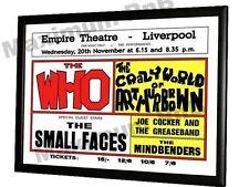 The Who Small Faces Joe Cocker Concert Poster Liverpool Empire 1968
