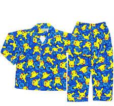 NEW SZ 4~12 KIDS BOYS POKEMON GO PYJAMAS WINTER FLANNELETTE SLEEPWEAR PJS TSHIRT