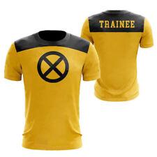 Movie Deadpool 2 Cosplay Costume T-shirt Yellow Short Sleeve Top Summer Tee