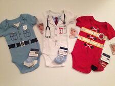 Police Officer Doctor Firefighter Baby Boy Bodysuit Romper Set Size 6 9 Months