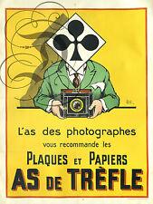 REPRO DECO AFFICHE AS DE TREFLE PHOTOGRAPHES PAIERS SUR PANNEAU MURAL BOIS HDF