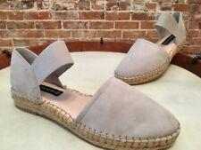 Steve Madden Grey Suede Casandra Espadrille Flats Shoes NEW