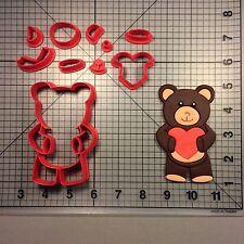 Heart Teddy Bear 100 Cookie Cutter Set