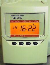 SEIKO QR 375 Rechnende Stempeluhr überholt mit Garantiel