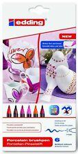 Edding 4200 Porzellan-Pinselstift Brushpen 6-er Set Auswahl warm,cool,family