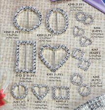 Rhinestone Buckles Premium Acrylic Crystal Diamonds Wedding BridalShower Giftbox