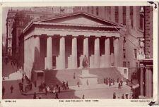 THE SUB-TREASURY NEW YORK CITY NY RPPC A REAL ROTARY PHOTO ON RAJAR BROMIDE CARD