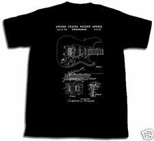 FENDER STRATOCASTER GUITAR PATENT SHIRT NEW TShirt S M L XL 2XL 3XL LEO T-shirt