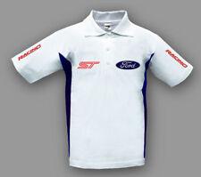 Neu Herren Ford ST Racing Polo T-shirt, Bestickt, Gr. S, M, L, XL, XXL, XXXL