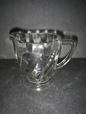 Dominion Glass CANADIAN SWIRL Clear Pitcher 16 oz Depression Glassware