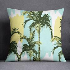 S4Sassy Tropical Palm Tree Square Cushion Cover Throw Pillow Case-PAR-SUB-SAS55A