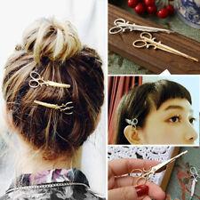 2PCS Stylish Women Vintage Scissors Hairpin Clips Headpiece Hair Cuff Accessory