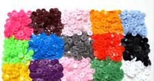 50 Stück Druckknöpfe 33 Farben Nähfrei Kam Snaps 12,4mm Verschluss Knopf Textil