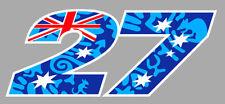 NUMERO 27 COURSE RACING NUMBER MOTO GP STONER AUTOCOLLANT STICKER SB205