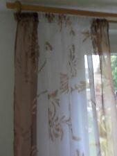 Gardine Vorhang Voile weiß, braun bedruckt, 155 ▪ 160 ▪ 180 ▪ 200 ▪ 240 cm hoch