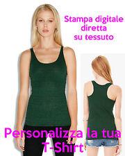 Canotta Personalizzata Canottiera da Personalizzare Verde Smeraldo da Donna