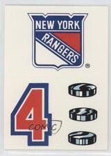 1989-90 Topps Sticker Inserts #17 New York Rangers Team Hockey Card