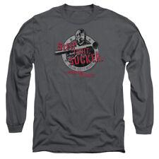 Mgm Delta Force Sleep Tight Mens Long Sleeve Shirt Charcoal