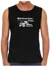 Mähdrescher-Pilot | Muskel-Shirt | Landwirt | Bauer | Agrar | Schlepper   743-11