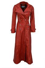 Las nuevas señoras Gótico Gabardina Abrigo Chaqueta Estilo Casual De Cuero Napa Color Real Rojo Diseño