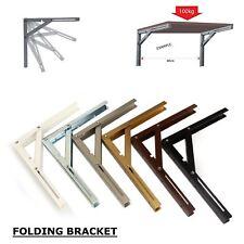 NEW Designer Wall Mounted Folding Quality Shelf Bracket Heavy Duty