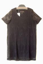 Samoon Kleid by Gerry Weber schwarz blickdichtes Netzkleid Damen Gr.