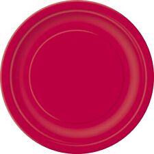 Rojo Rubí 22cm Fiesta Papel Platos Cena Celebración Barbacoa 1-96pk Pack