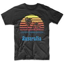Retro Style Australia Sunset Palm Trees Beach Vacation T-Shirt
