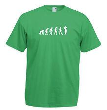 Mens evolution t shirt ape to man evolution t shirt golf evolution t shirt